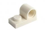 11458 6057414 Platte 1 x 2 mit Pinloch - weiß