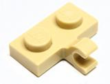 11476 6177314 Platte 1 x 2 mit Clip - beige