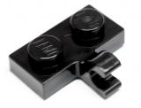 11476 6132731 Platte 1 x 2 mit Clip - schwarz