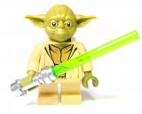 Minifigur - Star Wars - Yoda mit Leuchtschwert
