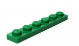 3666 366628 Bauplatte 1 x 6 - grün