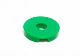 15535 6074954 Platte Fliese mit Loch 2 x 2 rund - grün