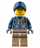 Minifigur - City - Polizistin - cty0869