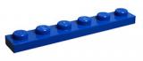 3666 366623 Bauplatte 1 x 6 - blau