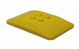 98281 4646504 Platte 4 x 6 x 2/3 gerundet mit 4 Noppen - gelb