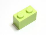 3004 6104578 Baustein 1 x 2 - hellgelbgrün