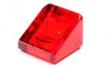 50746 4244363 Schrägstein 1 x 1 x 2/3 - transparent rot