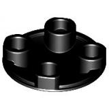 2654 4278359 Platte Gleiter 2 x 2 rund - schwarz