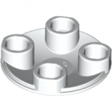 2654 4278271 Platte Gleiter 2 x 2 rund - weiß