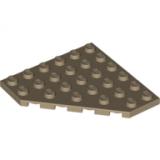 6106 6030845 Eckplatte 6 x 6 x 45° - dunkelbeige