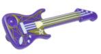 21142 6114319 Gitarre mit Dekor - lila