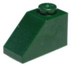 3040 4255624 Dachstein 1 x 2 45° - dunkelgrün