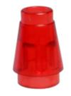 64288 4544720 Kegelstein 1 x 1 - transparent rot