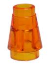 64288 4567338 Kegelstein 1 x 1 - transparent orange