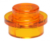 30057 4222960 Platte 1 x 1 rund - transparent orange