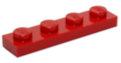 3710 371021 Bauplatte 1 x 4 - rot
