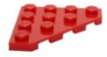 30503 6278445 Eckplatte 45° 4 x 4 - rot