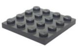 3031 4243831 Bauplatte 4 x 4 - dunkelgrau