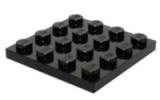 3031 4243819 Bauplatte 4 x 4 - schwarz