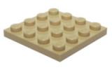 3031 4243824 Bauplatte 4 x 4 - beige