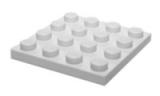 3031 4243812 Bauplatte 4 x 4 - weiß
