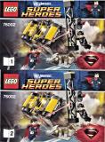 Bauanleitung - Super Heroes - Metropolis Showdown - 76002 (2 Hefte)