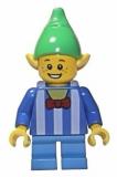 LEGO® Minifigur - Weihnachten - Elf - Streifenshirt - 10245