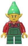 LEGO® Minifigur - Weihnachten - Elf - Green Overall - 10245