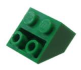 3660 4142717 Schrägstein 2 x 2 - grün