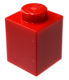 3005  300521 Baustein 1 x 1 - rot