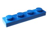 3710 371023 Bauplatte 1 x 4 - blau