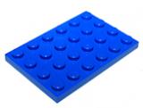 3032 303223 Bauplatte 4 x 6 - blau