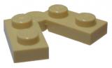 19954 6102772 Scharnierplatte 1 x 2 - 1 x 2 - beige