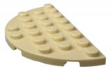 22888 6123812 Bauplatte Halbkreis 4 x 8 - beige