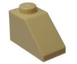 3040 4121972 Dachstein 1 x 2 45° - beige