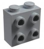 22885 6123809 Baustein 1 x 2 x 2 mit 4 Frontnoppen (Konverter) - hellgrau