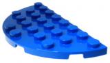 22888 6186378 Bauplatte Halbkreis 4 x 8 - blau