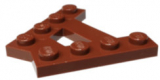 15706 6084573 Platte A-Form 4 Noppen 2 Reihen - braun