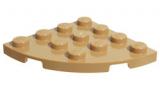 30565 4570451 Bauplatte 4 x 4 Viertelkreis - dunkelbeige