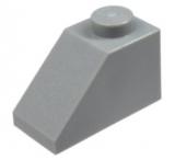3040 4211614 Dachstein 1 x 2 45° - hellgrau