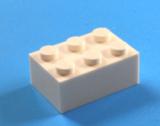 3002 300201 Baustein 2 x 3 - weiß