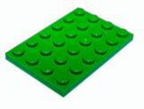 3032 4116671 Platte 4 x 6 - grün