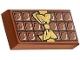 25395 6139435 Fliese 1 x 2 bedruckt Schokolade - braun