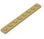 3460 4114324 Platte 1 x 8 - beige