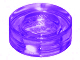 98138 6065505  Fliese 1 x 1 rund - transparent lila