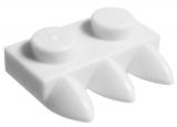 15208 6046381 Platte 1 x 2 mit 3 Zähnen - weiß