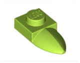49668 4611784 Platte 1 x 1 mit Zahn - hellgrün