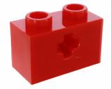32064 4142869 Stein 1 x 2 mit Achsloch - rot