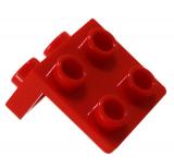 21712 6117974 Winkelplatte 1x2 - 2x2 - rot