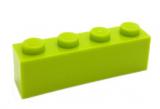 3010 4234716 Baustein 1 x 4 - hellgrün